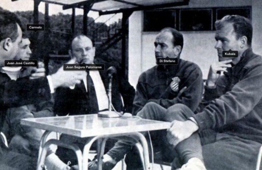 Juan Segura Palomares con Di Stéfano y Kubala