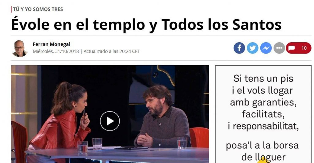 Imagen de la columna de Ferran Monegal en El Periódico de Catalunya