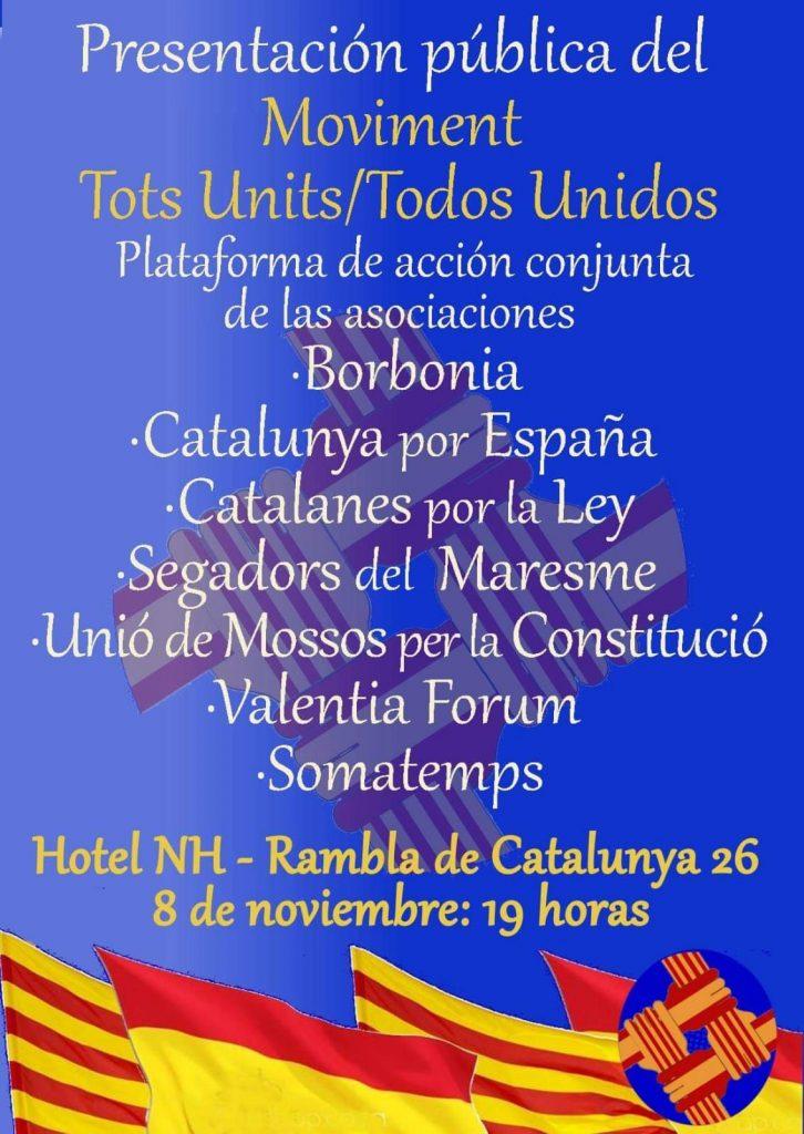 Cartel de la presentación de Tots Units / Todos Unidos