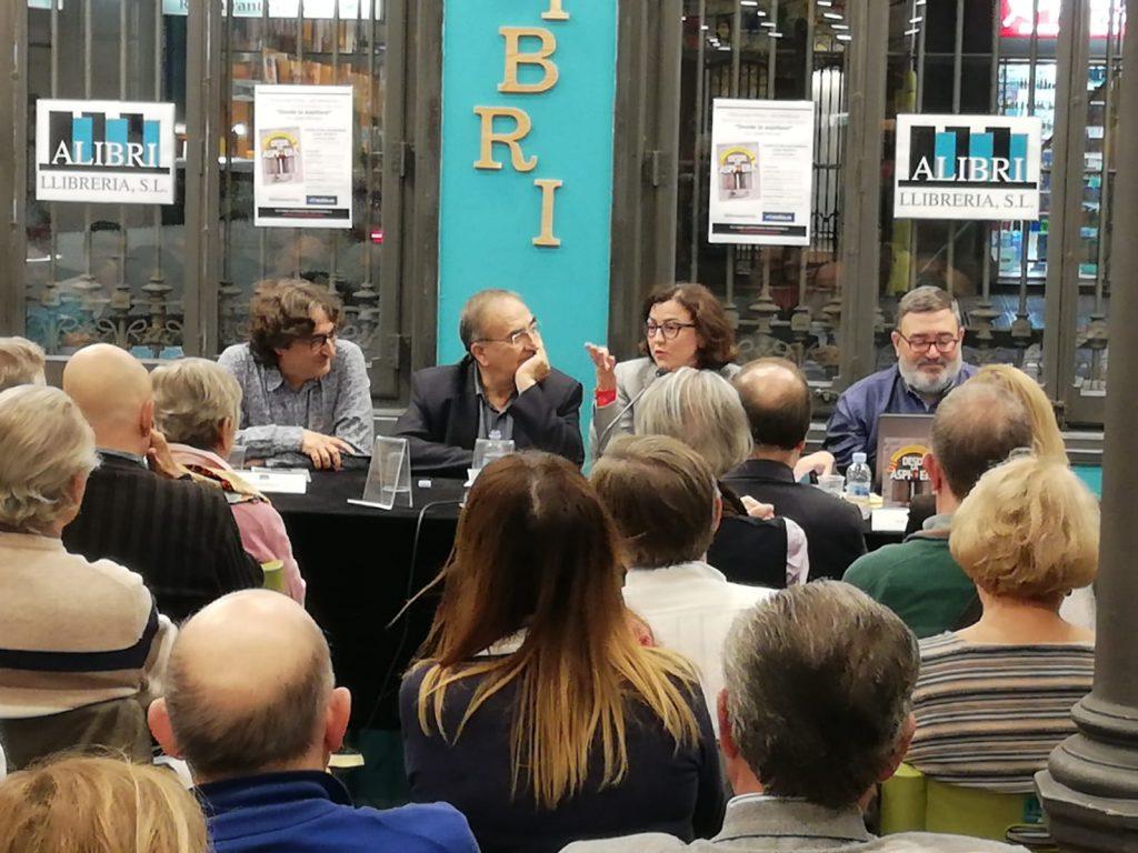 David Pérez, Joan Ferran, Eva Granados y Sergio Fidalgo en la presentación de Desde la aspillera