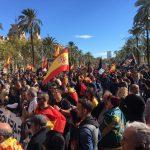 Manifestantes de Jusapol en Barcelona