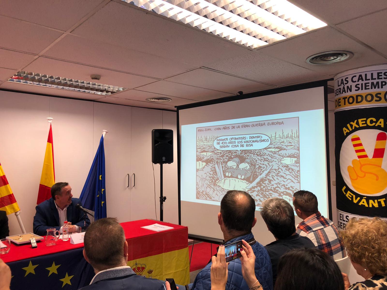 Acto de presentación de la Asamblea Nacional Española