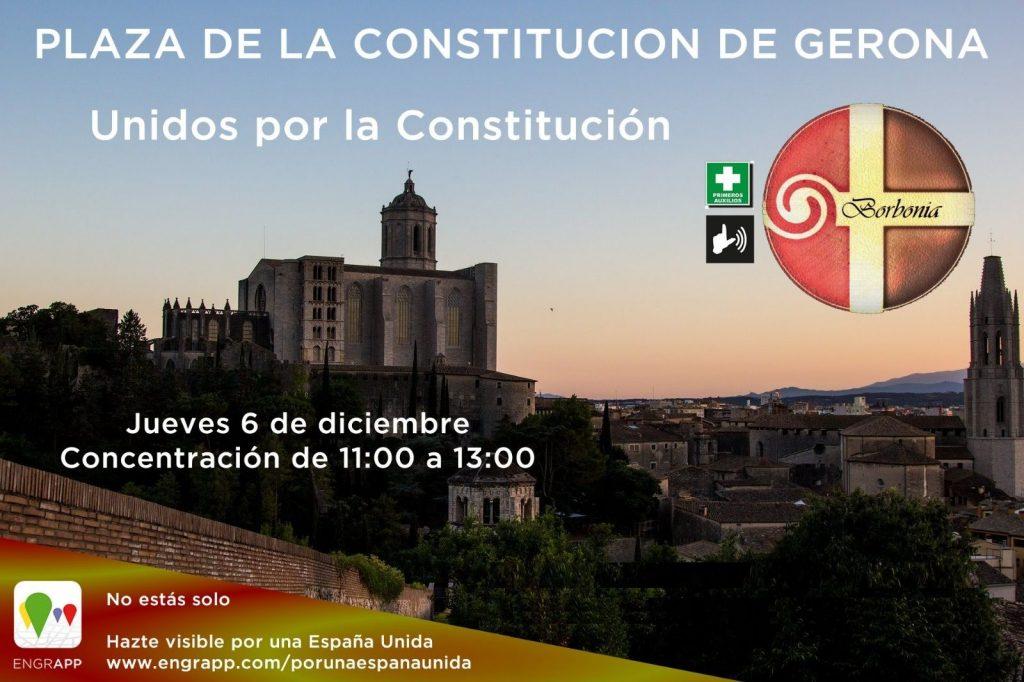 Borbonia día de la Constitución en Girona