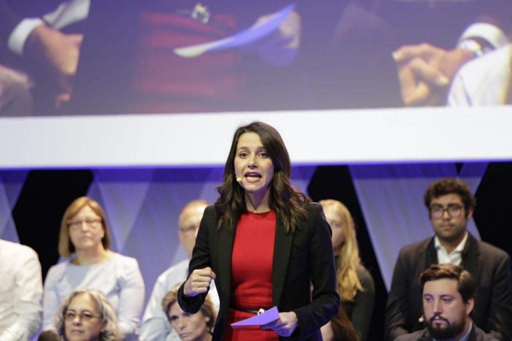 Inés Arrimadas en presentación Manuel Valls