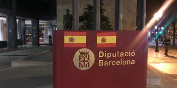 Adhesivos-bandera-española-Barcelona