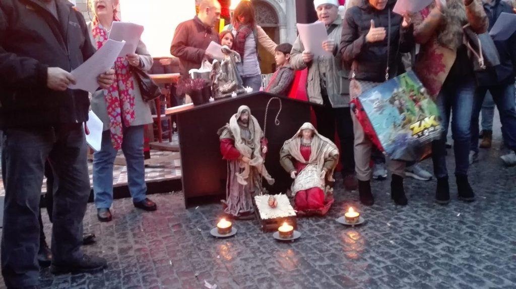 Pesebre Espanya i Catalans Plaça de Sant Jaume